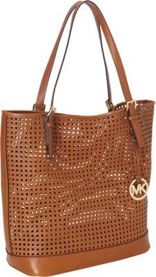 MICHAEL Michael Kors Bridget Large Shoulder Tote Bag Luggage - MICHAEL Michael Kors Designer Handbags