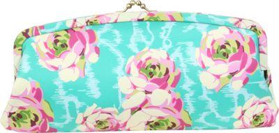 Amy Butler for Kalencom Cameo Clutch PU Flowing Buds Turquoise - Amy Butler for Kalencom Manmade Handbags
