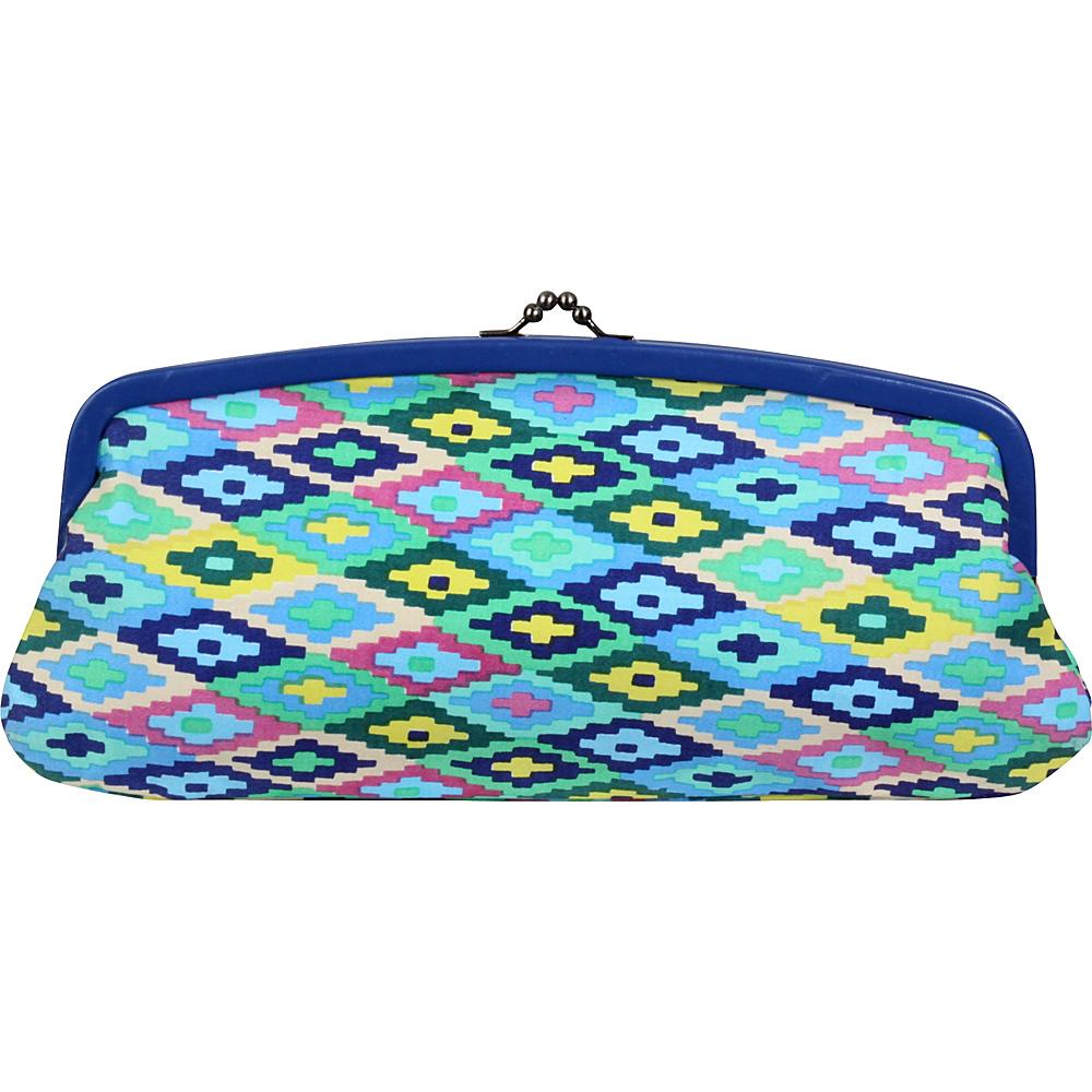 Amy Butler for Kalencom Cameo Clutch PU Cotton Celestial Weave/Sky - Amy Butler for Kalencom Manmade Handbags