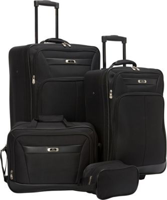 Skyway Desoto 2.0 4 Piece Travel Set Black - Skyway Luggage Sets