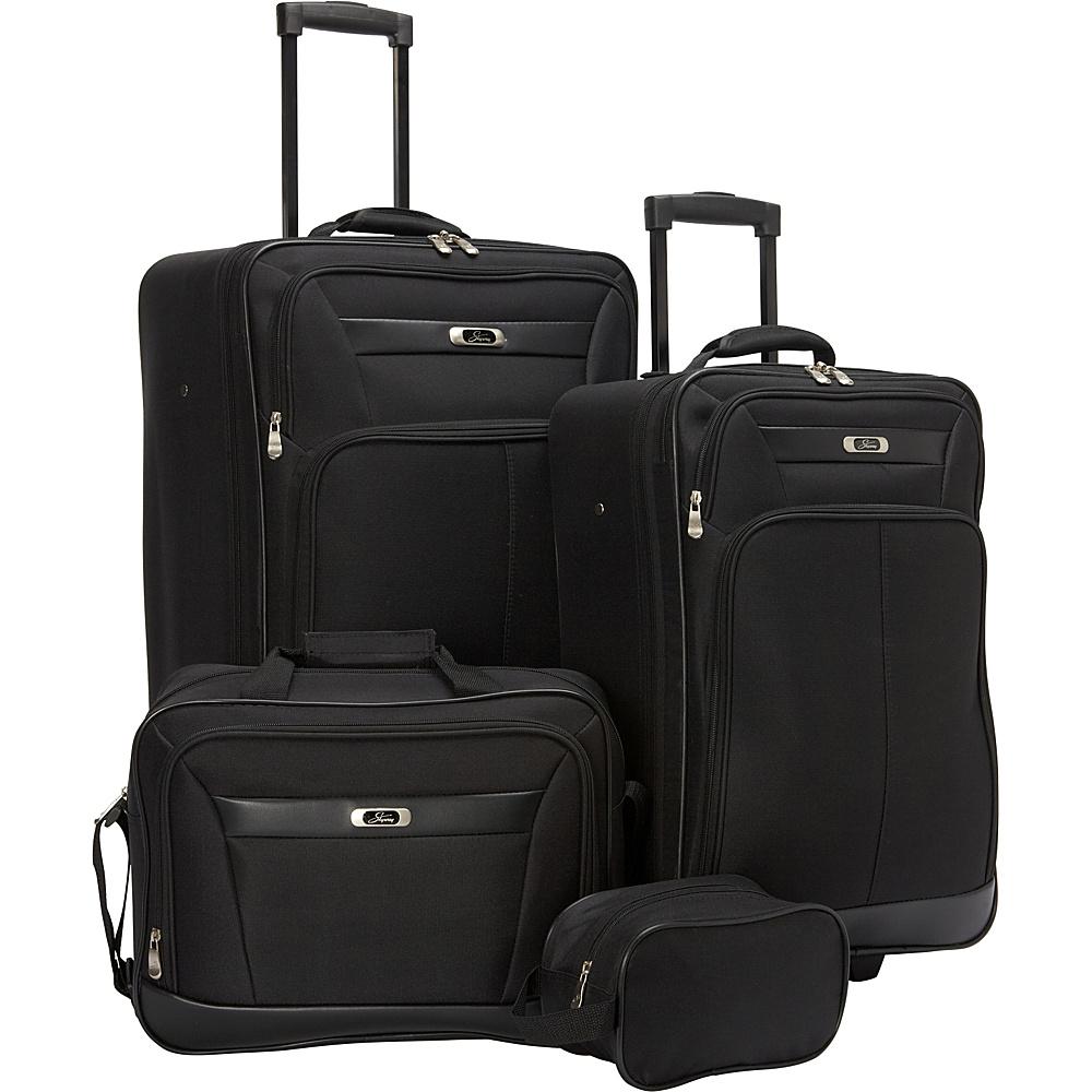 Skyway Desoto 2.0 4 Piece Travel Set Black - Skyway Luggage Sets