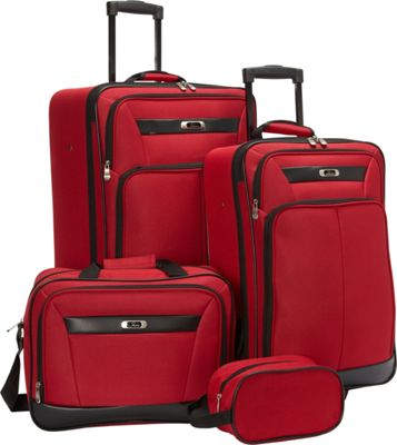 Skyway Desoto 2.0 4 Piece Travel Set True Red - Skyway Luggage Sets