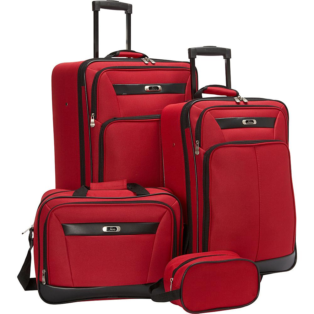 Skyway Desoto 2.0 4 Piece Travel Set True Red - Skyway Luggage Sets