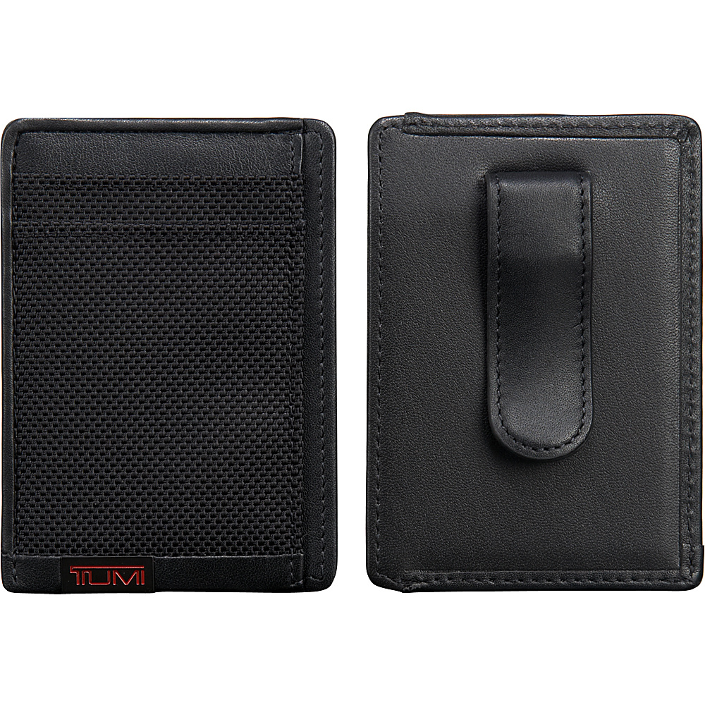 Tumi Alpha Money Clip Card Case Black - Tumi Mens Wallets - Work Bags & Briefcases, Men's Wallets