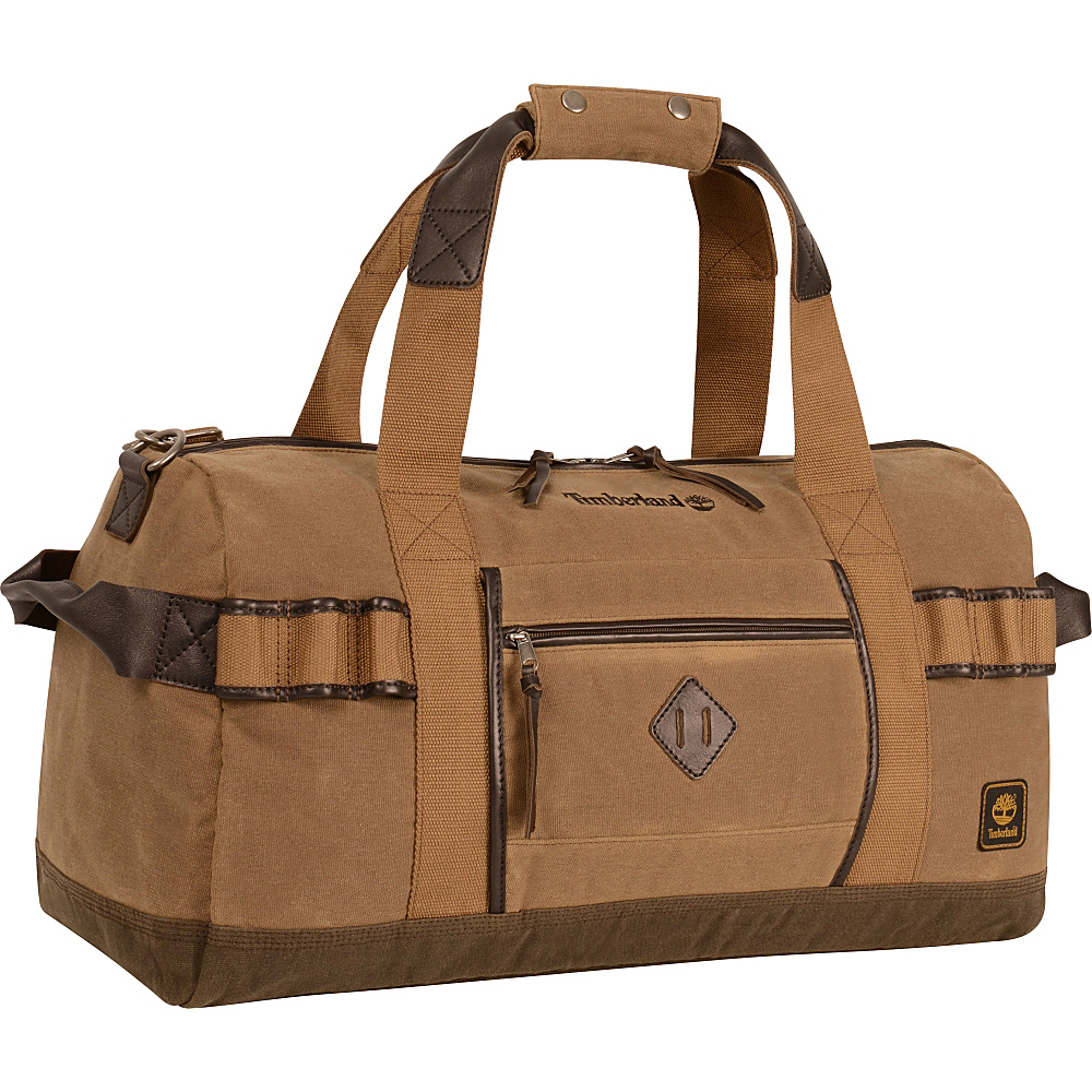 Timberland Mt. Madison Canvas Duffle Tan Brown Timberland Rolling Duffels
