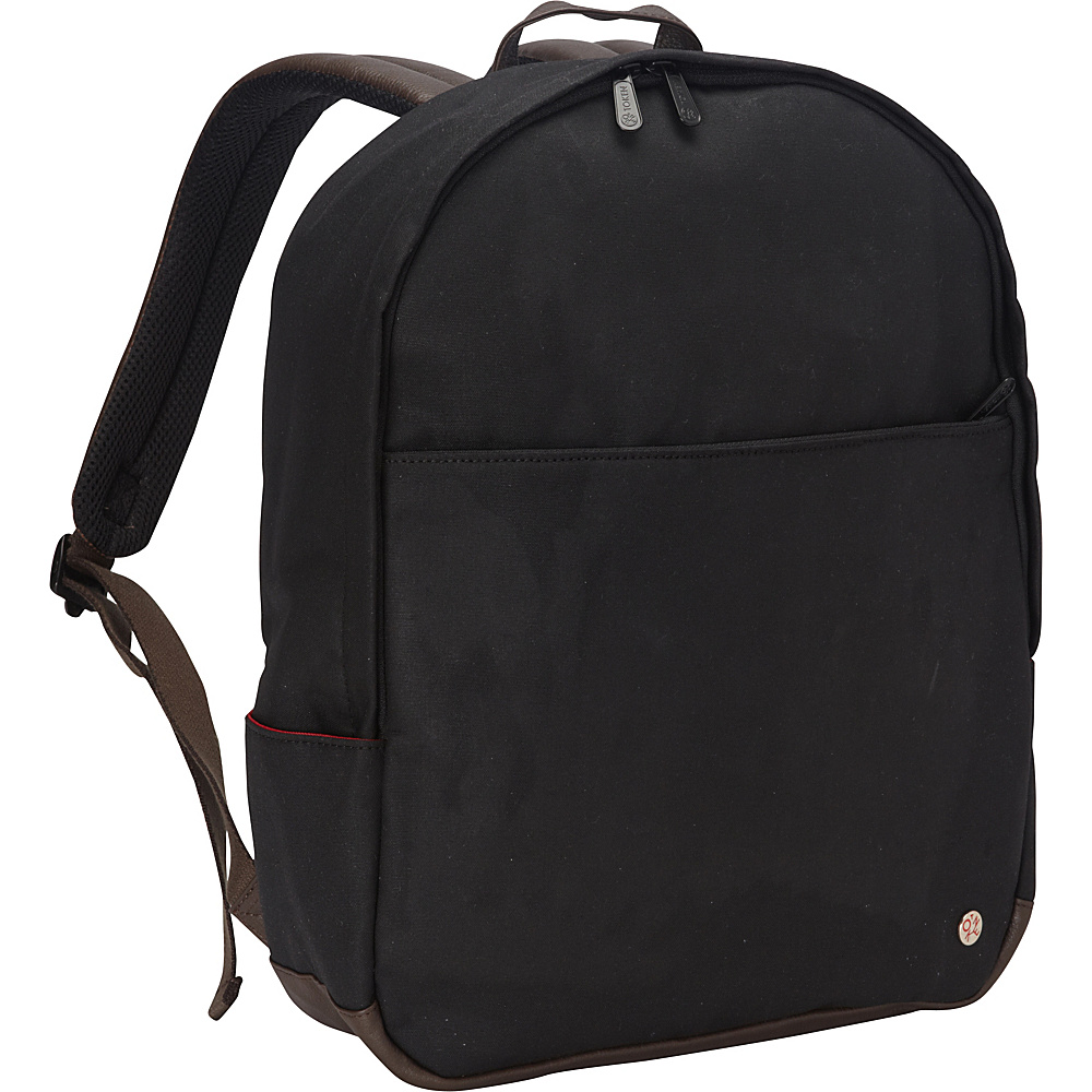 TOKEN University Waxed Backpack Black TOKEN Everyday Backpacks