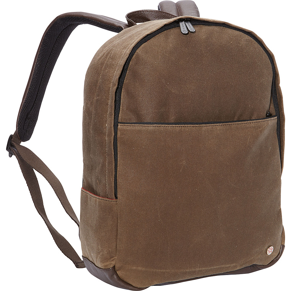 TOKEN University Waxed Backpack Dark Brown TOKEN Everyday Backpacks