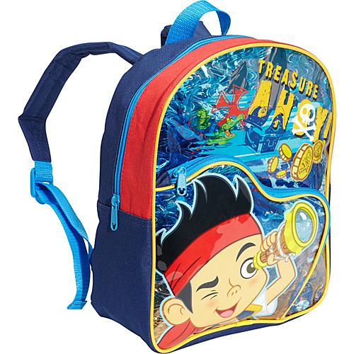 """Disney Jake And The Pirates 12"""" Backpack Blue - Disney School & Day Hiking Backpacks"""