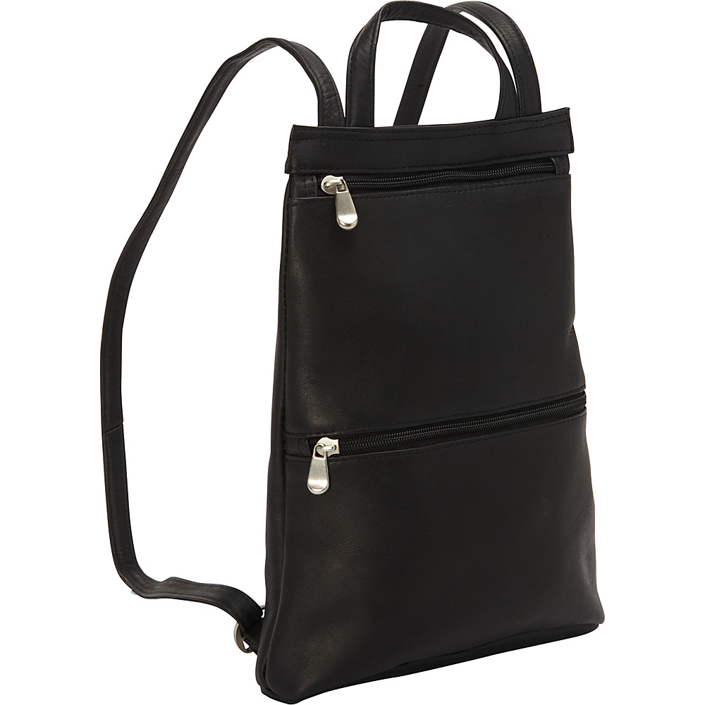 Le Donne Leather Tanya Slimpack Black - Le Donne Leather Leather Handbags - Handbags, Leather Handbags