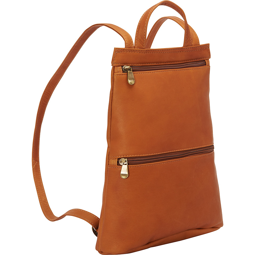 Le Donne Leather Tanya Slimpack Tan - Le Donne Leather Leather Handbags - Handbags, Leather Handbags