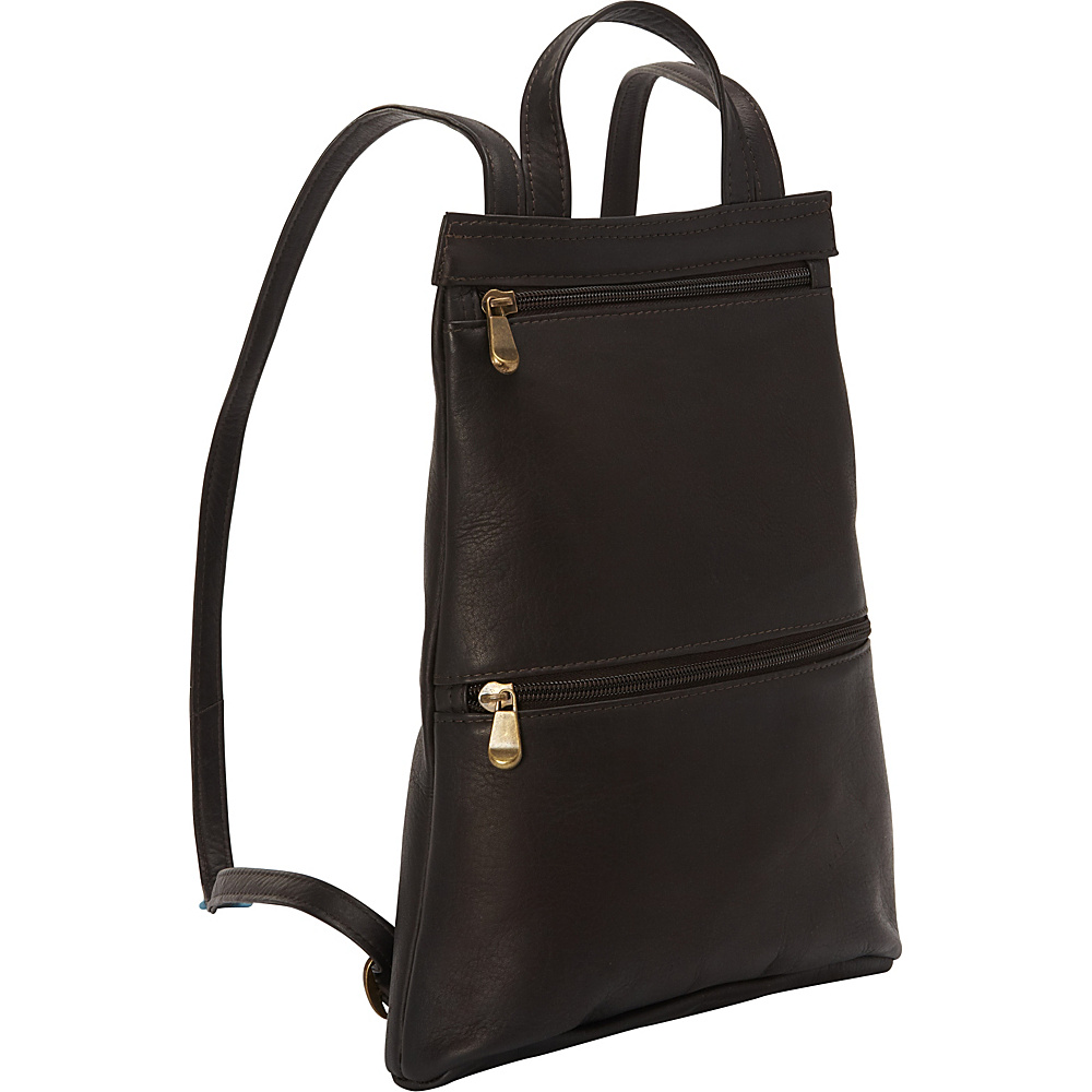 Le Donne Leather Tanya Slimpack Cafe - Le Donne Leather Leather Handbags - Handbags, Leather Handbags