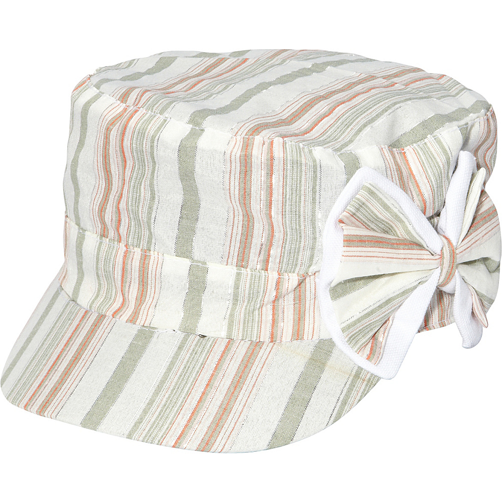 Magid Striped Bow Cap Toast Magid Hats Gloves Scarves