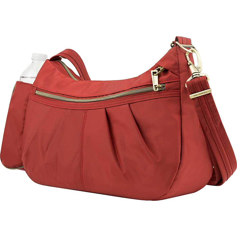 Travelon Anti Theft Signature Hobo Cayenne Travelon Fabric Handbags