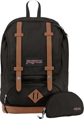 JanSport Baughman Laptop Backpack Black Canvas - JanSport School & Day Hiking Backpacks