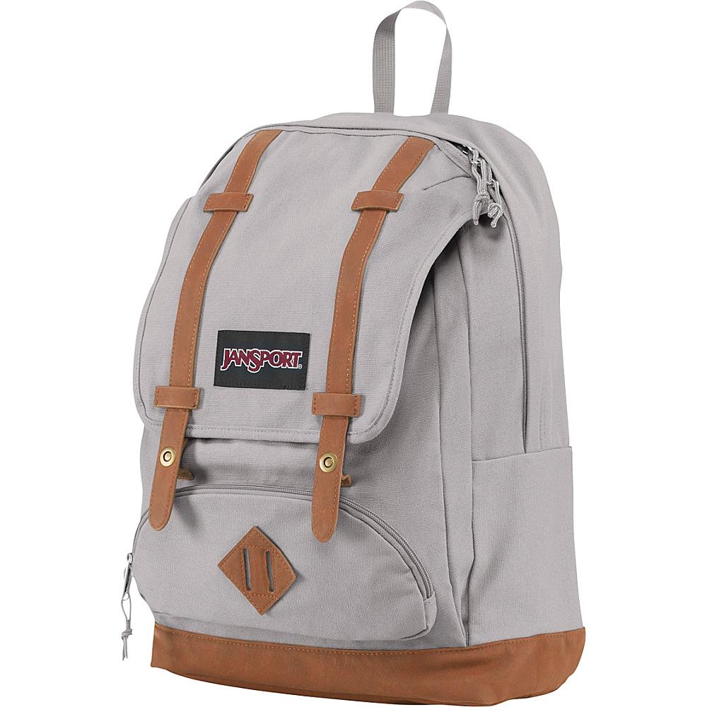 JanSport Baughman Laptop Backpack Grey Rabbit Canvas - JanSport Business & Laptop Backpacks - Backpacks, Business & Laptop Backpacks