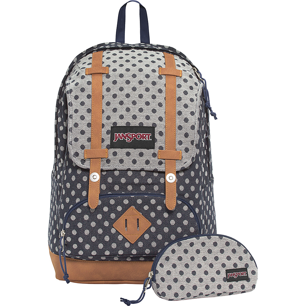 JanSport Baughman Laptop Backpack Navy Twiggy Dot Jacquard - JanSport School & Day Hiking Backpacks
