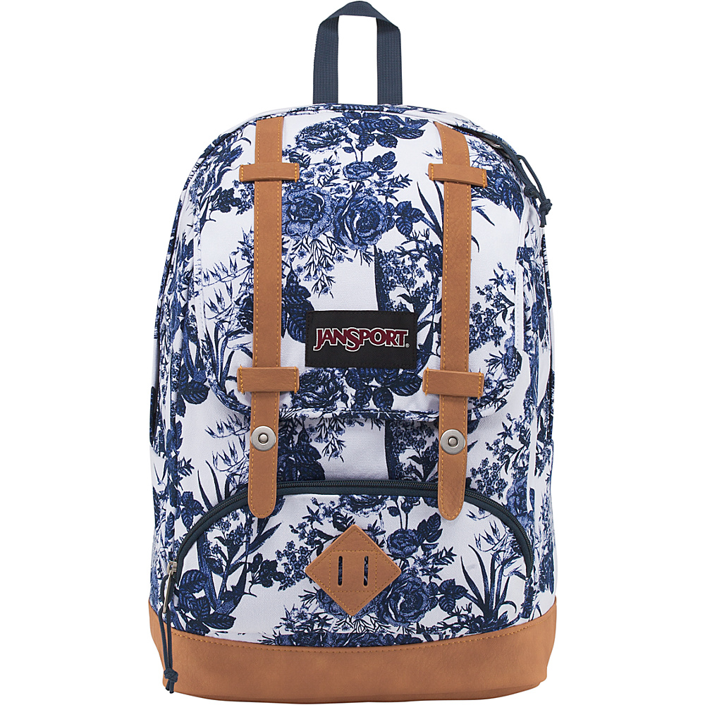 JanSport Baughman Laptop Backpack White Artist Rose - JanSport School & Day Hiking Backpacks