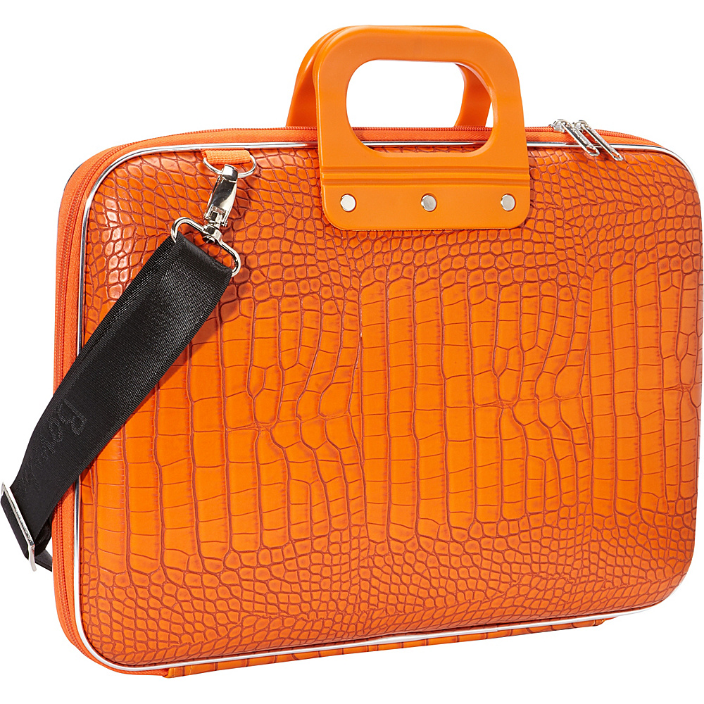 Bombata Croc 15 inch Laptop Bag Orange Bombata Non Wheeled Business Cases
