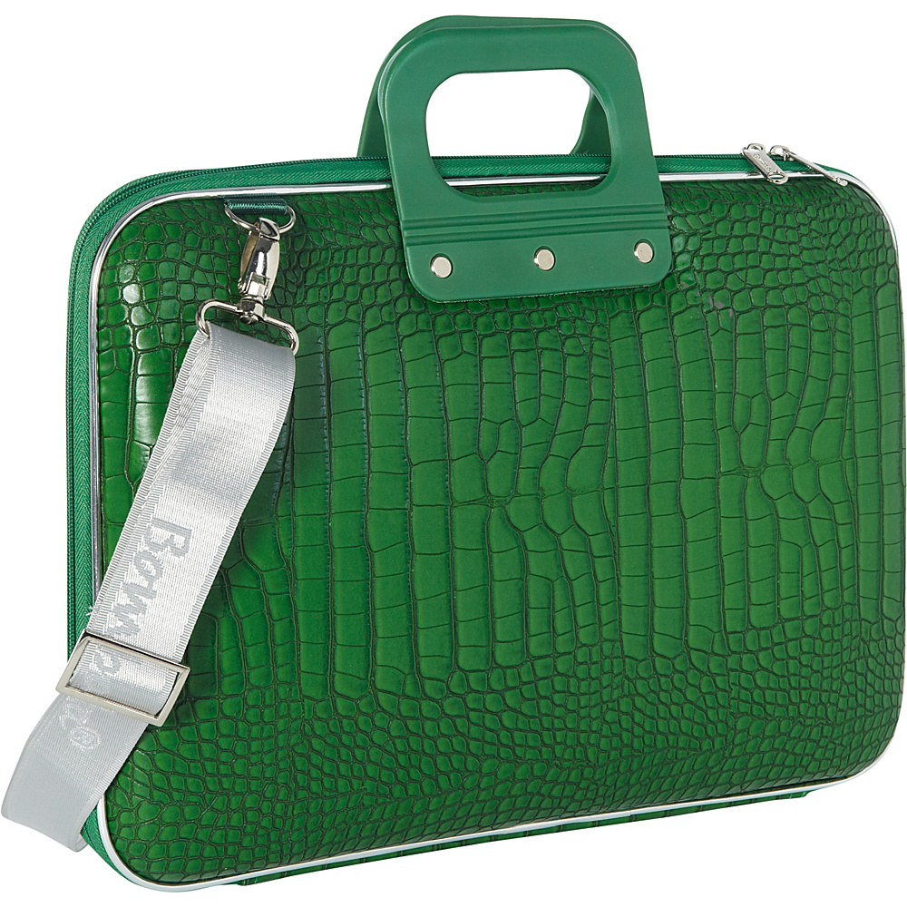 Bombata Croc 15 inch Laptop Bag Emerald Green Bombata Non Wheeled Business Cases