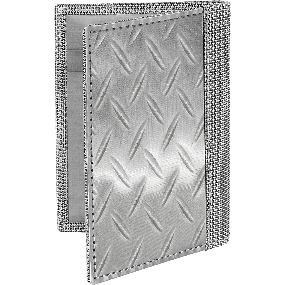 Stewart Stand RFID Blocking Driving Wallet Silver Textured Stewart Stand Men s Wallets