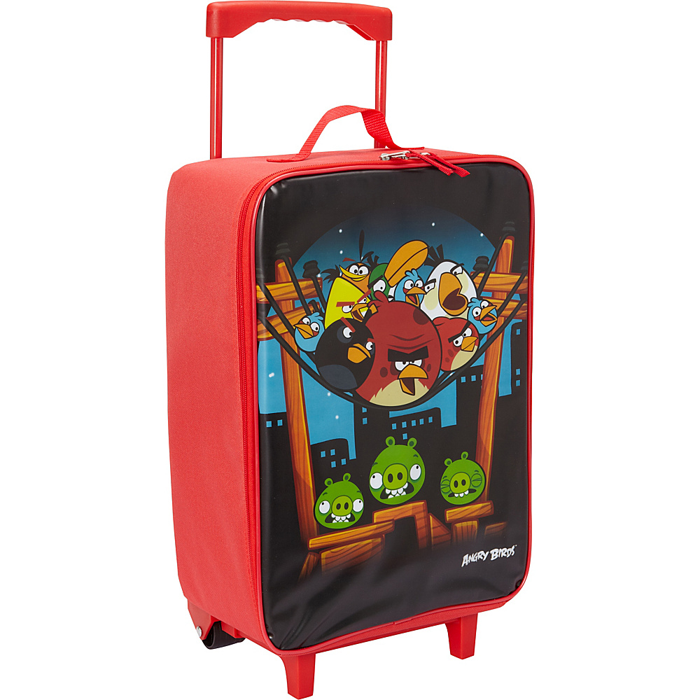 Accessory Innovations Angry Birds Soft Roller Luggage Black - Accessory Innovations Softside Carry-On