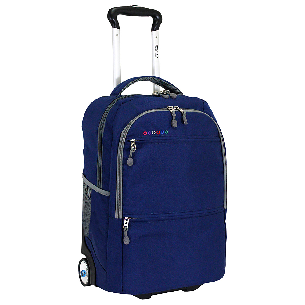 J World New York Walkway Rolling Backpack Navy J World New York Rolling Backpacks