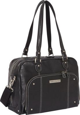 Clark & Mayfield Morrison Leather Laptop Handbag 14.4 inch Black - Clark & Mayfield Women's Business Bags