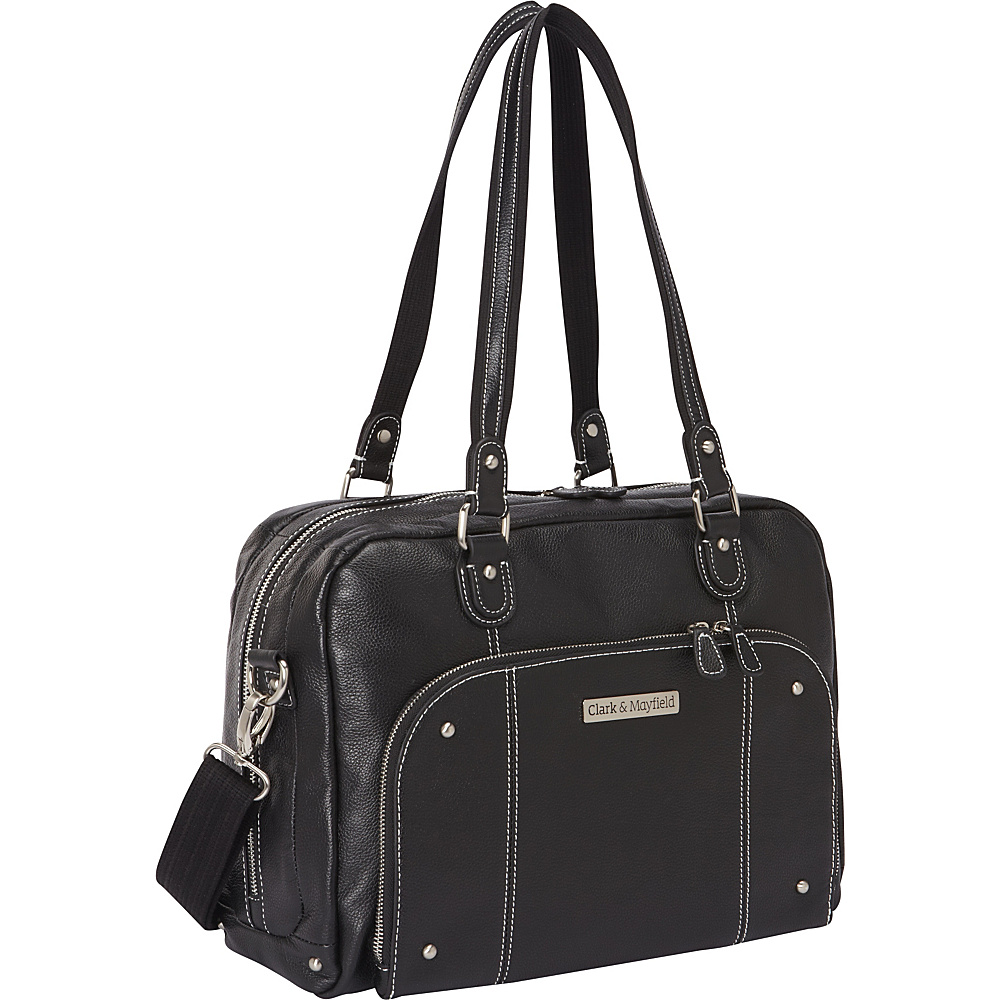 Clark Mayfield Morrison Leather Laptop Handbag 14.4 Black Clark Mayfield Women s Business Bags