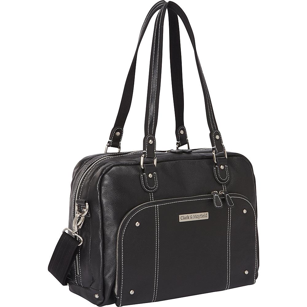 "Clark & Mayfield Morrison Leather Laptop Handbag 14.4"" Black - Clark & Mayfield Women's Business Bags"
