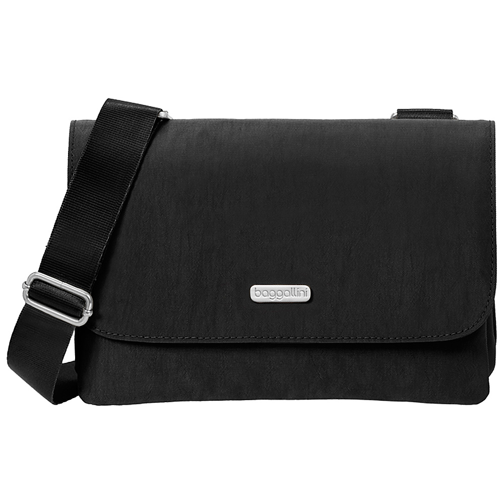 baggallini Venture Crossbody Black Sand baggallini Fabric Handbags
