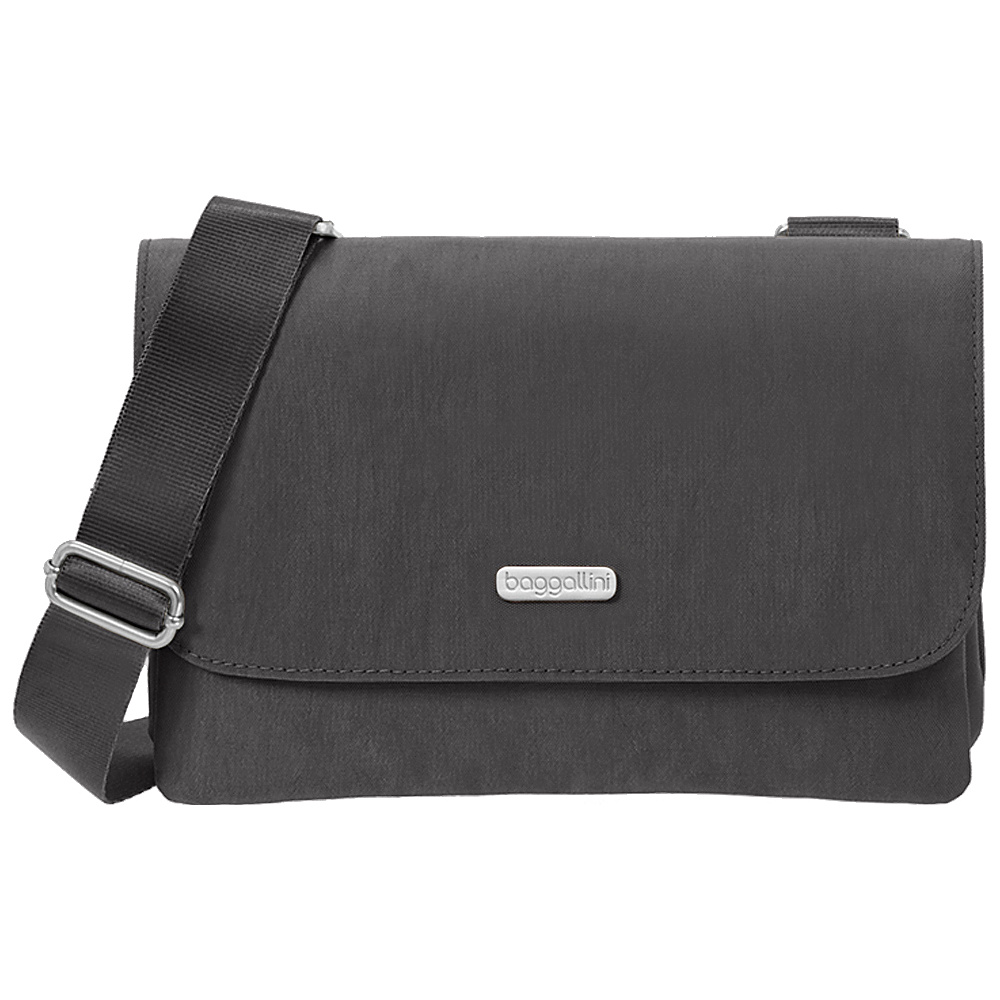 baggallini Venture Crossbody Charcoal baggallini Fabric Handbags