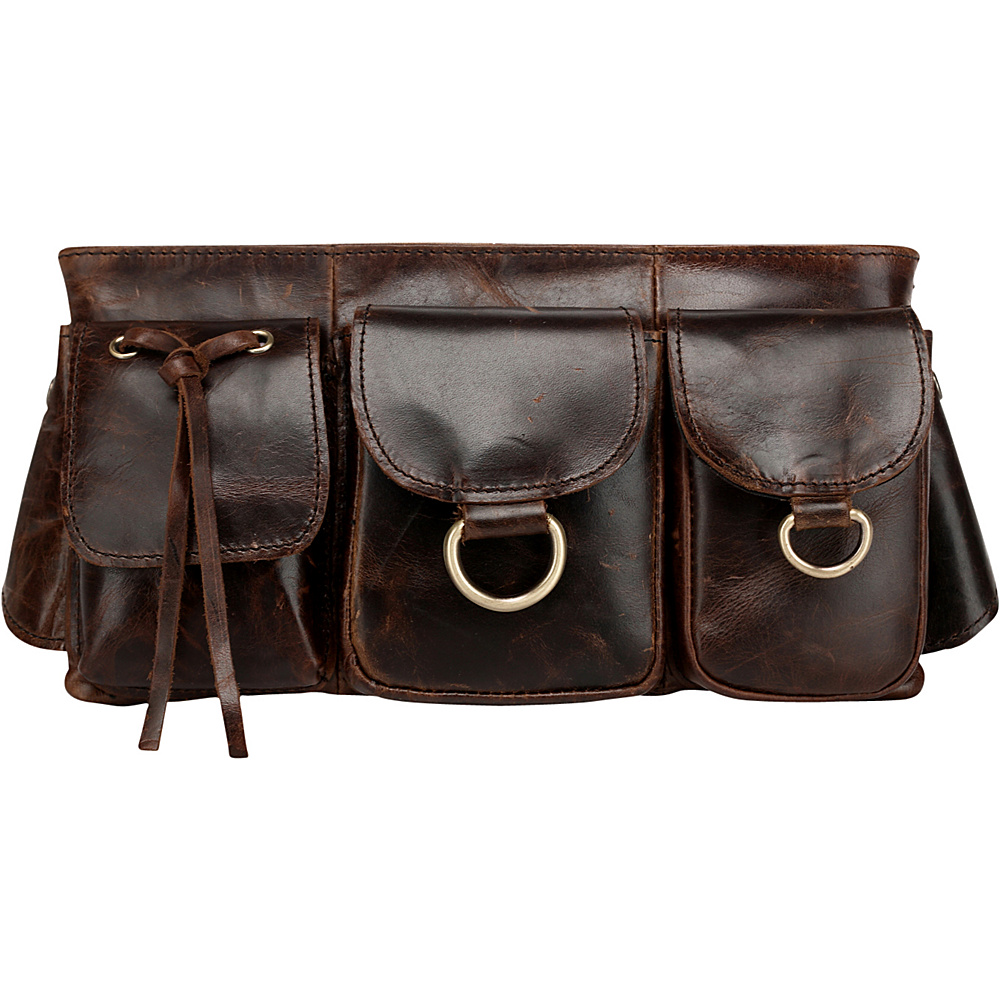 Vicenzo Leather Adonis Leather Waistpack Brown Large Vicenzo Leather Waist Packs
