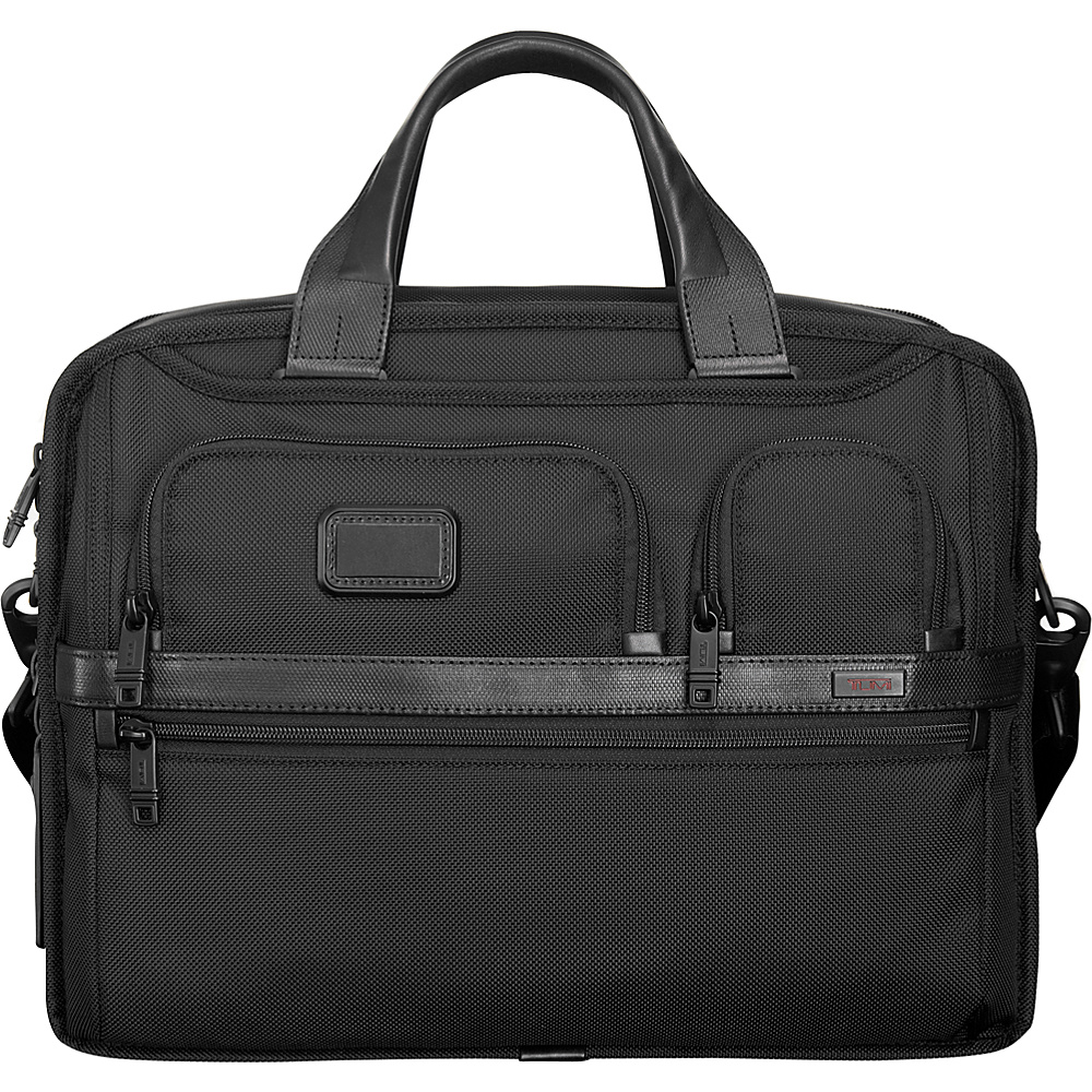 Tumi Alpha 2 Expandable Organizer Laptop Brief Black Tumi Non Wheeled Business Cases