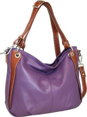 Nino Bossi Satchel of Seville Grape - Nino Bossi Leather Handbags