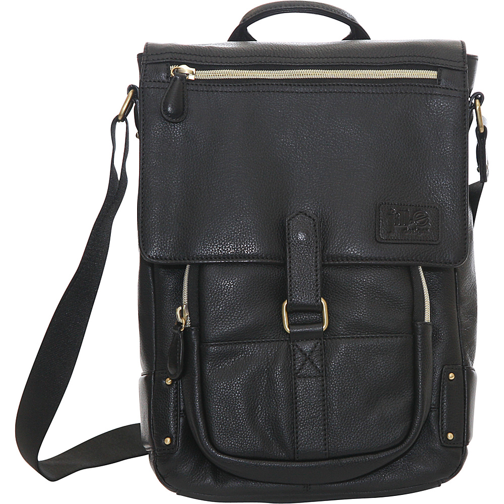 Jill e Designs Emma 11 Leather Laptop Tablet Bag Black Jill e Designs Non Wheeled Business Cases