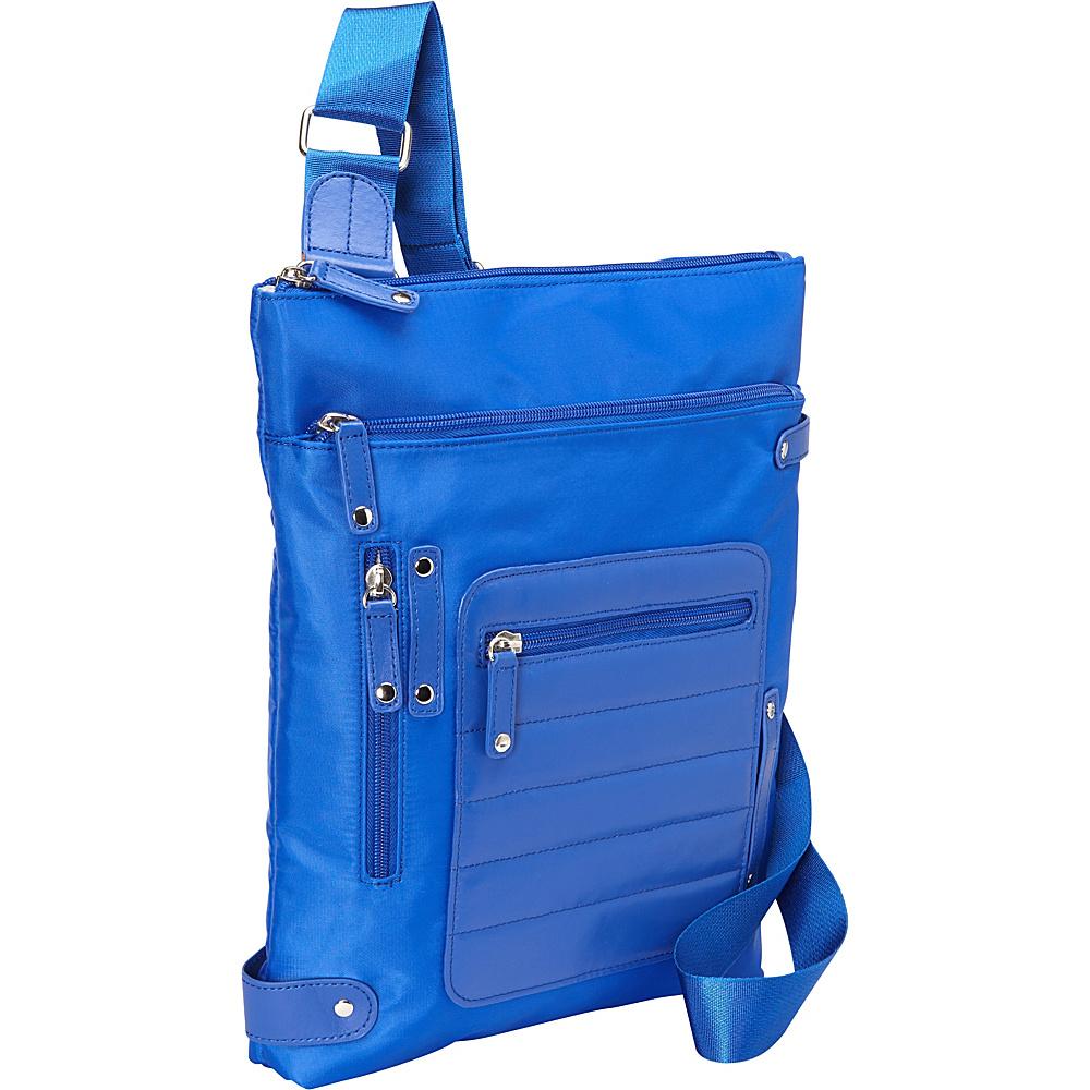 Women In Business Phoenix City Slim Shoulder Bag 14 Blue Women In Business Fabric Handbags