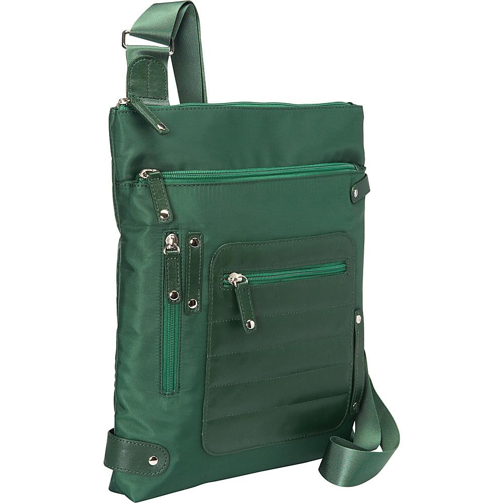 Women In Business Phoenix City Slim Shoulder Bag 14 Green Women In Business Fabric Handbags