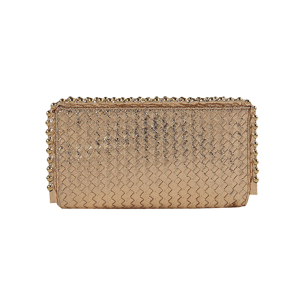 Melie Bianco Pepper Clutch Gold - Melie Bianco Manmade Handbags
