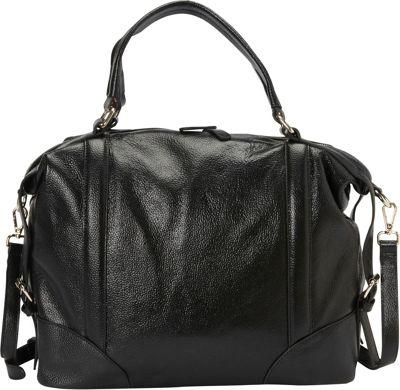 Donna Bella Designs Vivian Shoulder Bag Black - Donna Bella Designs Leather Handbags