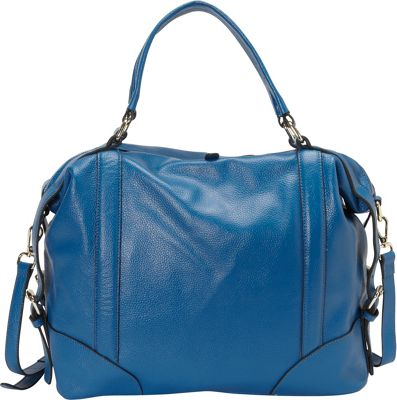 Donna Bella Designs Vivian Shoulder Bag Blue - Donna Bella Designs Leather Handbags