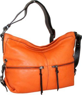 Nino Bossi Harriet Hobo Orange - Nino Bossi Leather Handbags