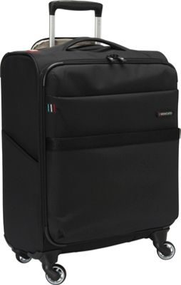 Roncato Venice 22 inch Carry-on Spinner Black - Roncato Softside Carry-On