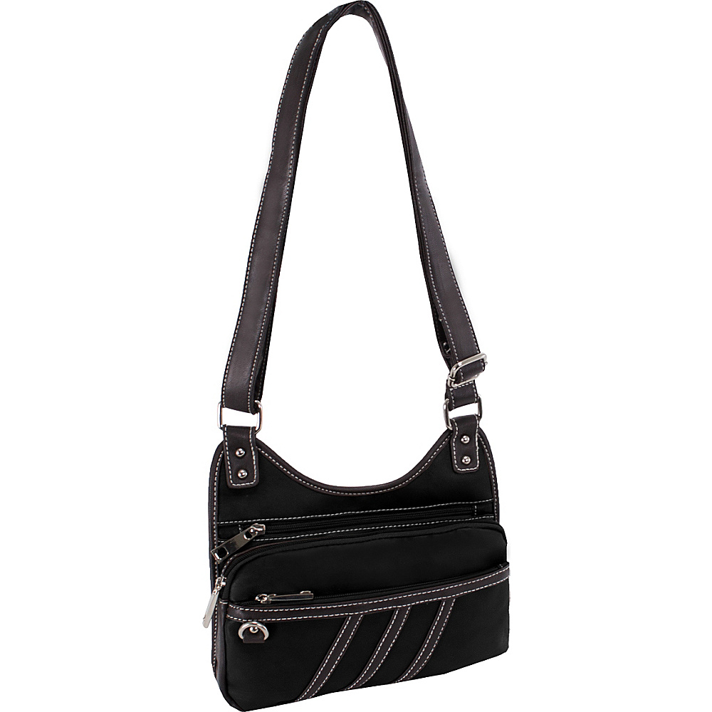 Parinda Gianna Crossbody Black Parinda Manmade Handbags