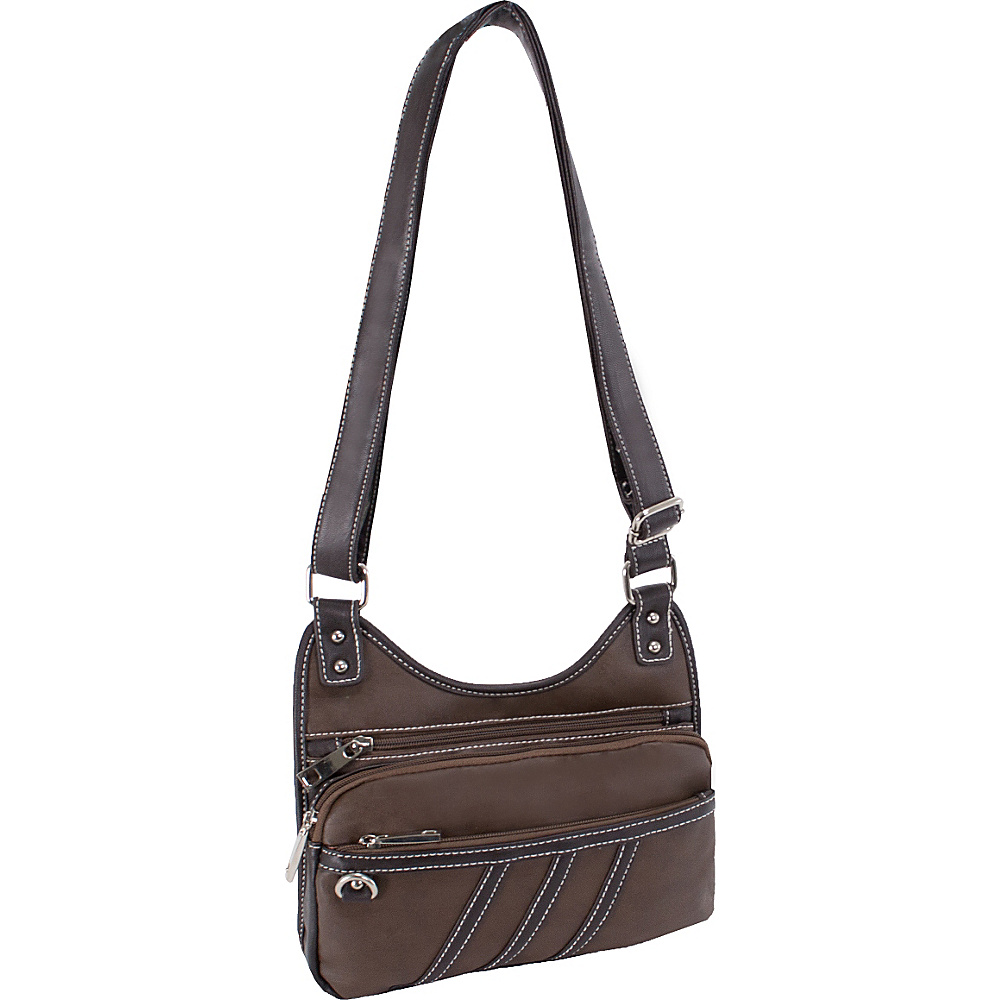 Parinda Gianna Crossbody Brown Parinda Manmade Handbags