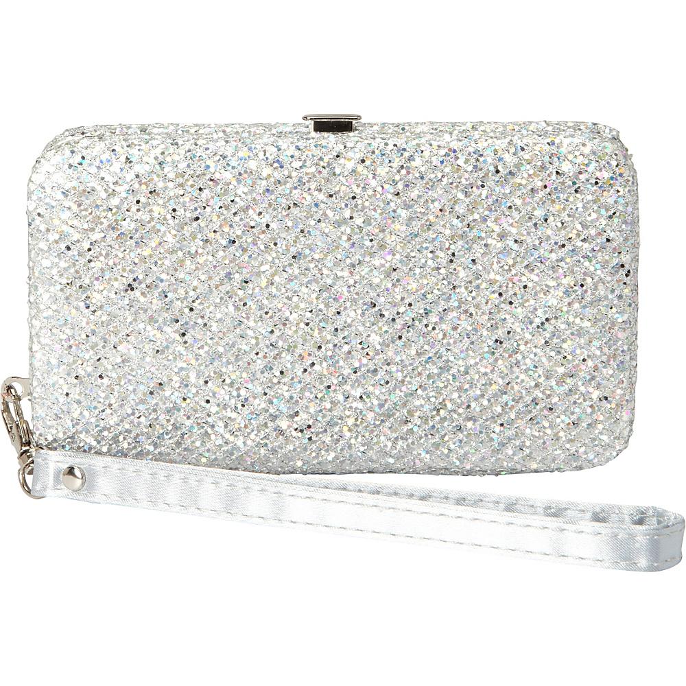 28 04 More Details Coloriffics Handbags Harper Wristlet Silver Evening Bags