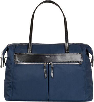 KNOMO London Curzon 15 inch Shoulder Tote Navy - KNOMO London Fabric Handbags