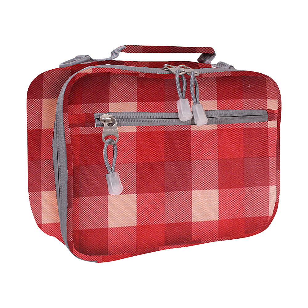 J World New York Cody Lunch Bag Check Red - J World New York Travel Coolers - Travel Accessories, Travel Coolers