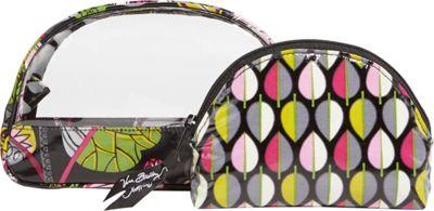 Vera Bradley Clear Cosmetic Duo Moon Blooms - Vera Bradley Ladies Cosmetic Bags