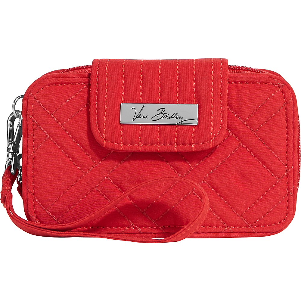 Vera Bradley Smartphone Wristlet 2.0- Retired Prints Tango Red - Vera Bradley Ladies Wallet on a String