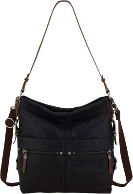 The Sak Sanibel Bucket Black - The Sak Leather Handbags
